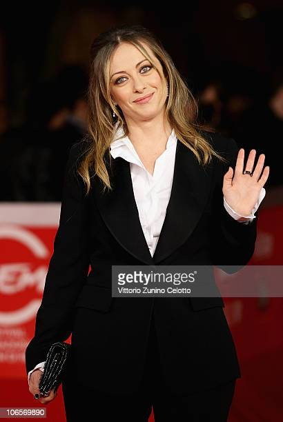 Minister of Youth and president of Young Italy Giorgia Meloni attends the Closing Awards Ceremony of the 5th International Rome Film Festival at the...