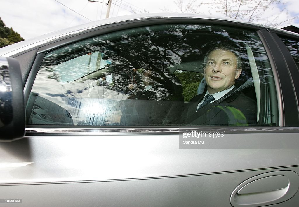 Minister Phil Goff leaves the King's premises after paying his respects to the Late King of Tonga, Taufa'ahau Tupou IV in Epson, September 12, 2006 in Auckland New Zealand. The body of the Late King will lie in state at his Auckland residence Atalanga before flying back to Tonga tomorrow for a state funeral.