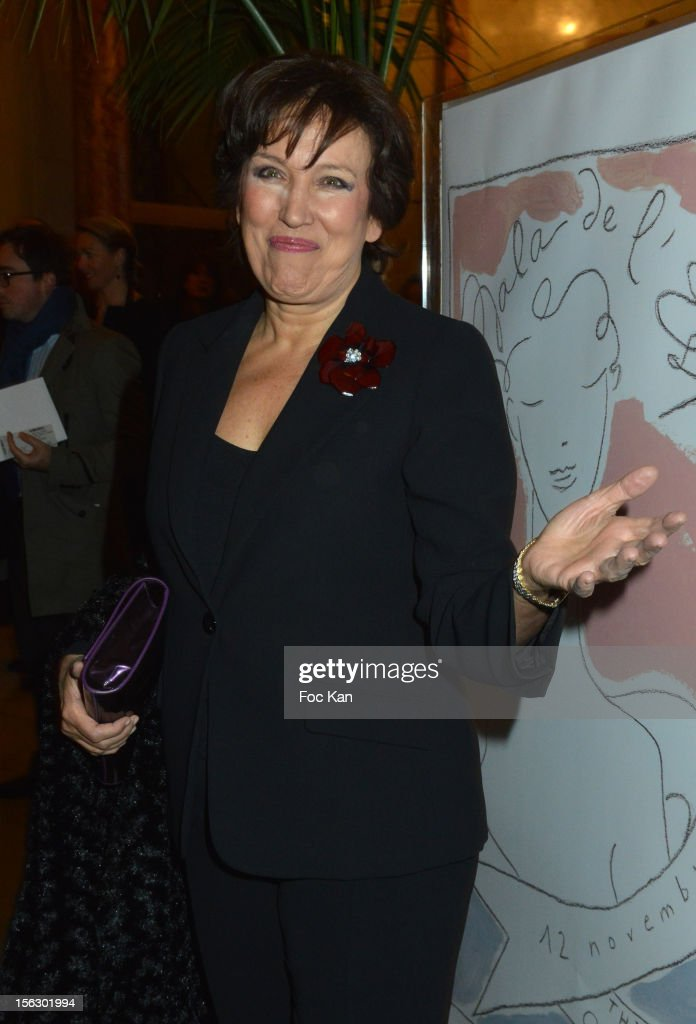 Minister Roselyne Bachelot attends the 20th 'Gala Pour L'Espoir' At the Theatre du Chatelet on November 12, 2012 in Paris, France.