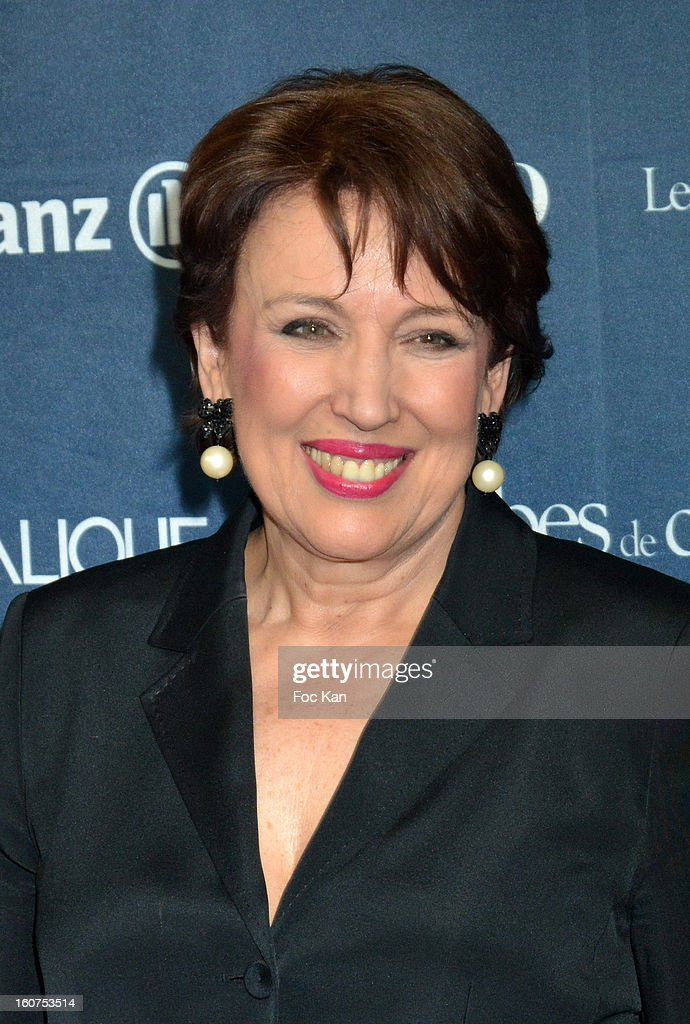 Minister Roselyne Bachelot attends the 'Globes de Cristal 2013' Press Room at the Lido on February 4, 2013 in Paris, France.