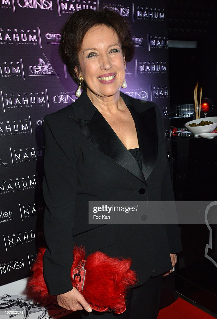 Minister <a gi-track='captionPersonalityLinkClicked' href=/galleries/search?phrase=Roselyne+Bachelot&family=editorial&specificpeople=2369544 ng-click='$event.stopPropagation()'>Roselyne Bachelot</a> attends the Jeweler Edouard Nahum 'Maya' New Collection Launch Party at La Gioia on December 4, 2012 in Paris, France.