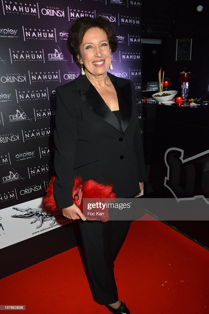 Minister Roselyne Bachelot attends the Jeweler Edouard Nahum 'Maya' New Collection Launch Party at La Gioia on December 4, 2012 in Paris, France.