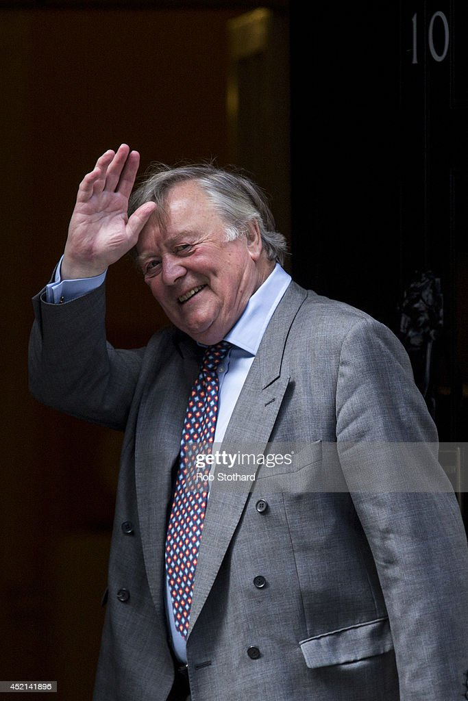 Minister without Portfolio, <a gi-track='captionPersonalityLinkClicked' href=/galleries/search?phrase=Kenneth+Clarke&family=editorial&specificpeople=766951 ng-click='$event.stopPropagation()'>Kenneth Clarke</a>, arrives in Downing Street on July 14, 2014 in London, England. Whitehall sources have indicated that Prime Minister David Cameron is planning to reshuffle the appointments to the Cabinet ahead of next year's general election.