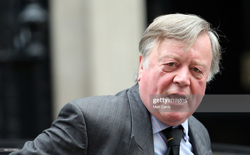 Minister without Portfolio Kenneth Clarke leaves a cabinet meeting in Downing Street ahead of the Chancellor of the Exchequer George Osborne...