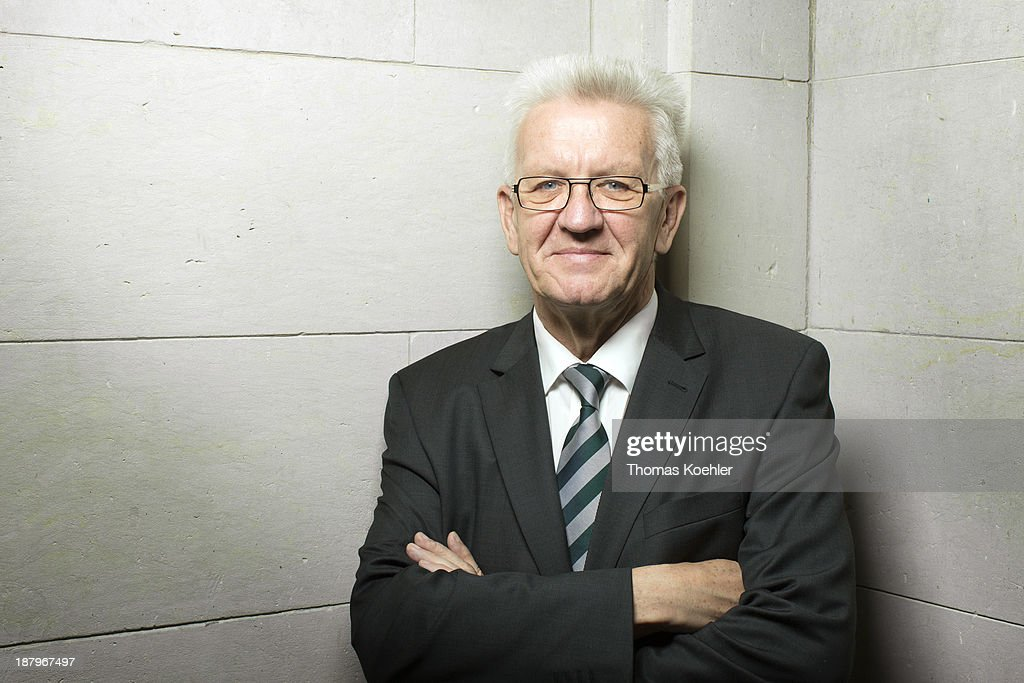 Minister-President of Baden-Wuerttemberg <a gi-track='captionPersonalityLinkClicked' href=/galleries/search?phrase=Winfried+Kretschmann&family=editorial&specificpeople=7227897 ng-click='$event.stopPropagation()'>Winfried Kretschmann</a> from the German Greens Party (Buendnis 90/Die Gruenen) photographed in the German parliament building (Bundesrat) on November 08, 2013 in Berlin, Germany.