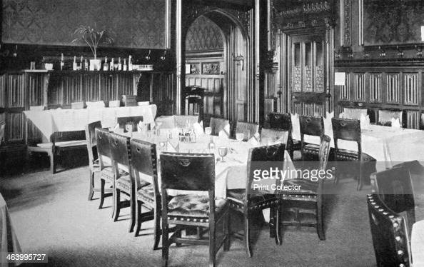 Ministers' Table House of Commons Dining Room Palace of Westminster London c1905 Photo published in Parliament Past and Present by Arnold Wright and...