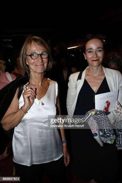 Ministre de la Culture Francoise Nyssen and PDG of France TV Delphine Ernotte attend 'La Nuit des Molieres 2017' at Folies Bergeres on May 29 2017 in...