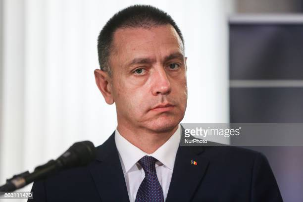 A Ministrer of National Defence of Romania Mihai Viorel Fifor during press conference for the opening of NATO Counter Intelligence Centre of...