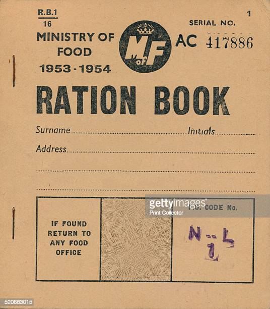 Ministry of Food Ration Book 19531954 After the outbreak of World War II in September 1939 rationing was introduced in the UK The first commodity to...