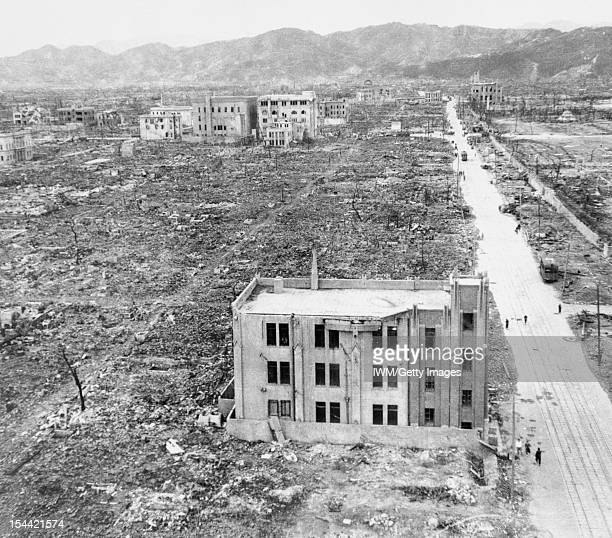 Ministry Of Home Defence A view of the devastation caused by the atomic bomb that was dropped on Hiroshima in Japan on 6 August 1945