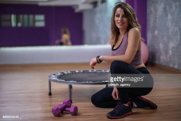Mini-trampoline workout