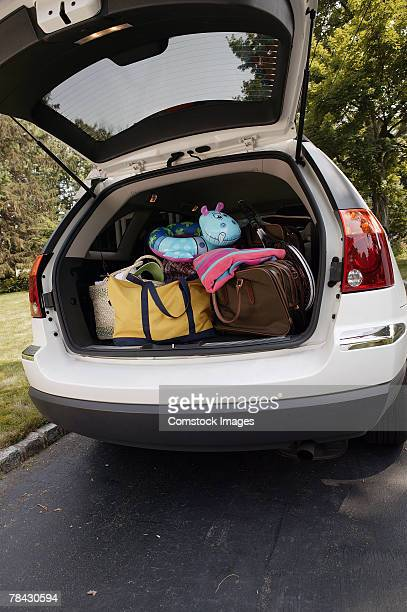 Minivan packed for vacation