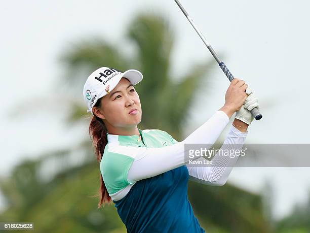 Minjee Lee of Australia during Round 2 of Blue Bay LPGA of Day 2 on October 21 2016 in Hainan Island China