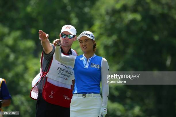 Minjee Lee of Australia during the third round of the Kingsmill Championship presented by JTBC on the River Course at Kingsmill Resort on May 20 2017...