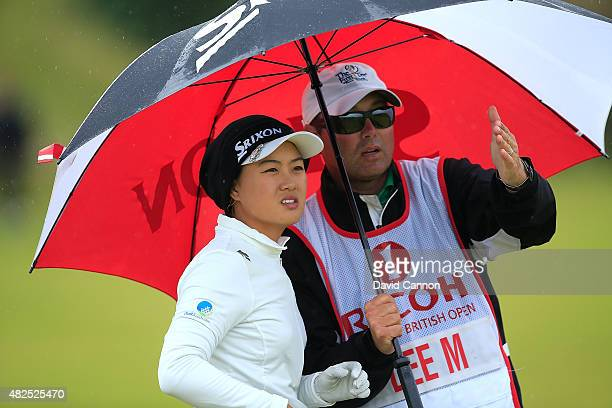 Minjee Lee of Australia looks down the 5th hole during the Second Round of the Ricoh Women's British Open at Turnberry Golf Club on July 31 2015 in...