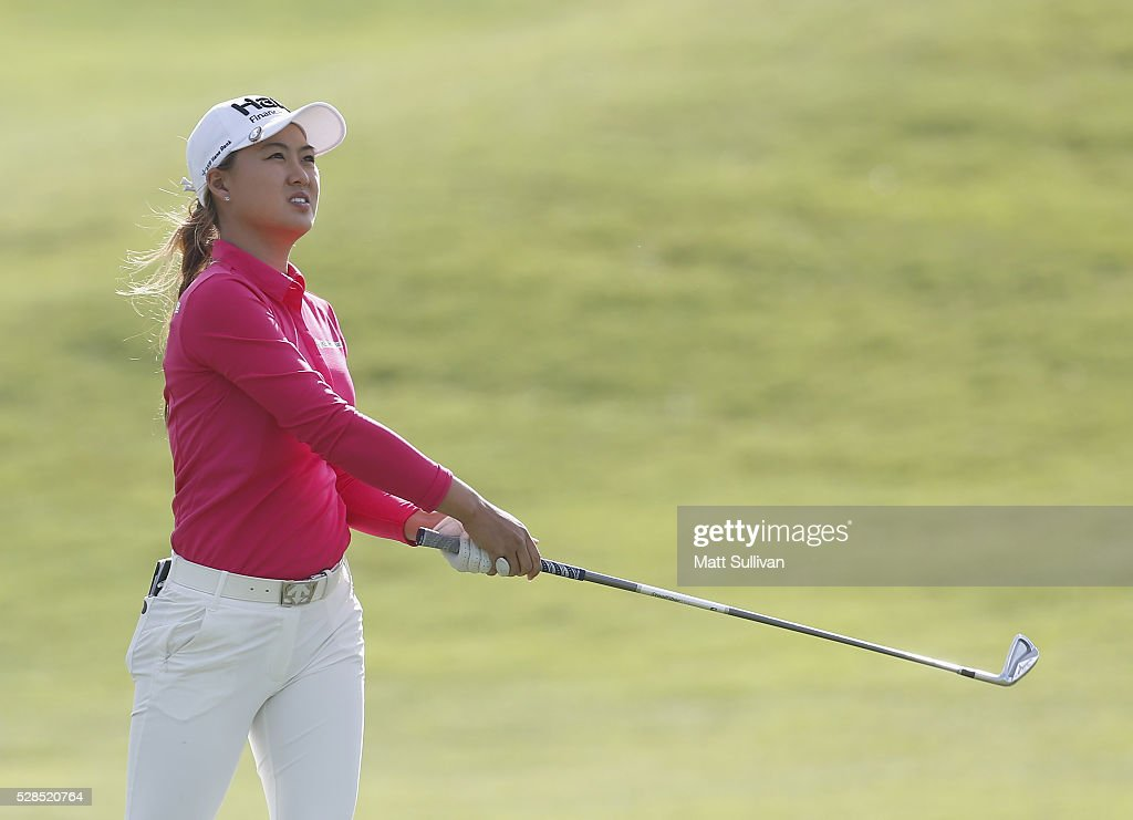 <a gi-track='captionPersonalityLinkClicked' href=/galleries/search?phrase=Minjee+Lee&family=editorial&specificpeople=10180843 ng-click='$event.stopPropagation()'>Minjee Lee</a> of Australia watches her second shot on the third hole during the Yokohama Tire Classic on May 05, 2016 in Prattville, Alabama.