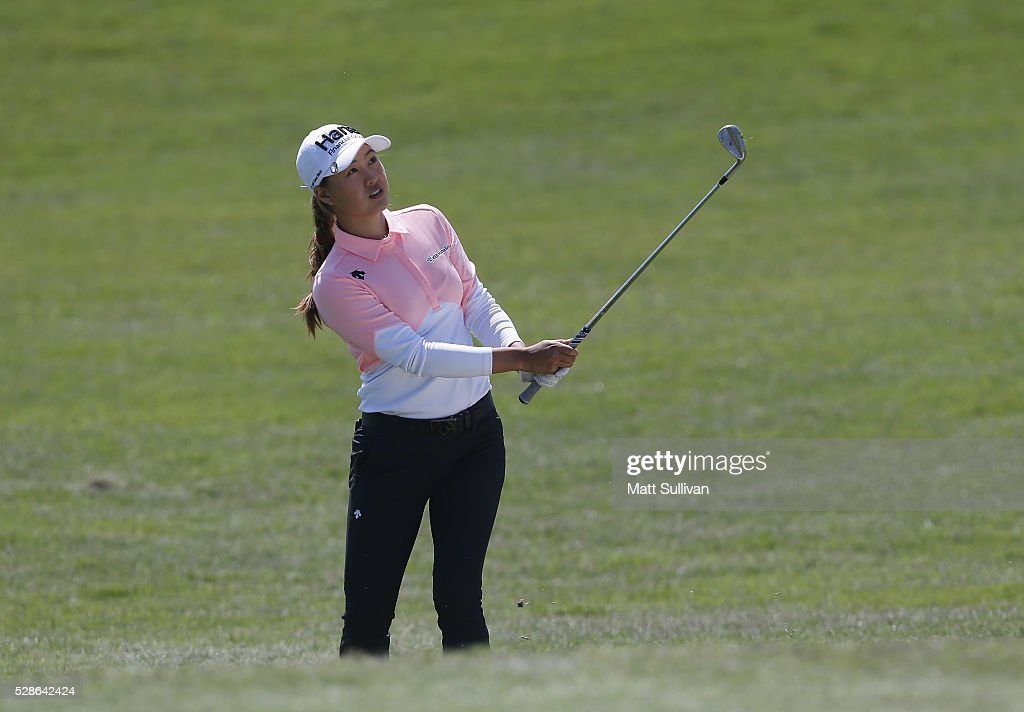 Minjee Lee of Australia watches her third shot on the eighth hole during the second round of the Yokohama Tire Classic on May 06, 2016 in Prattville, Alabama.