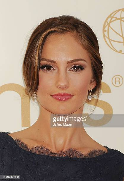 Minka Kelly arrives at the 63rd Primetime Emmy Awards at the Nokia Theatre LA Live on September 18 2011 in Los Angeles California