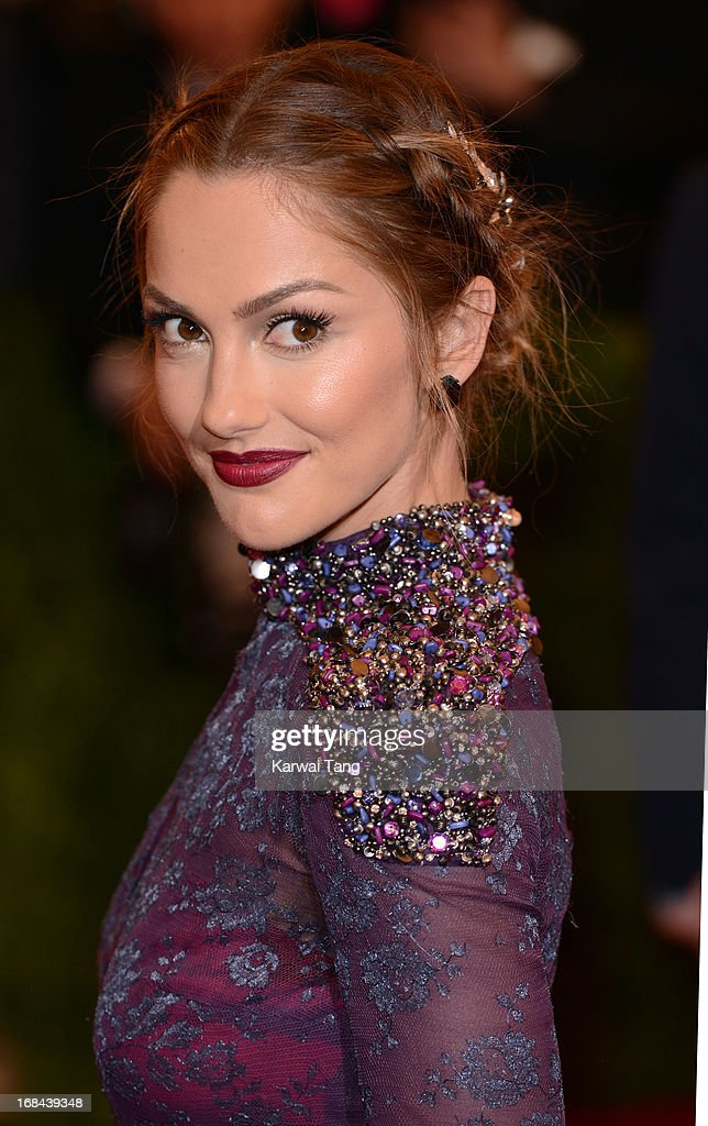 Minka Kelly attends the Costume Institute Gala for the 'PUNK: Chaos to Couture' exhibition at the Metropolitan Museum of Art on May 6, 2013 in New York City.