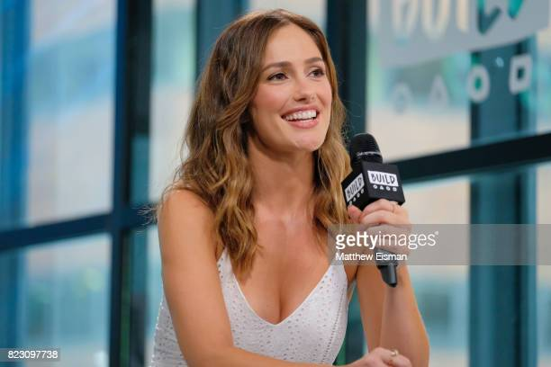 Minka Kelly discusses her clothing live FashionABLE at Build Studio on July 26 2017 in New York City