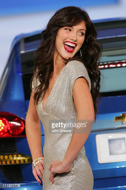 Minka Kelly during 2007 GM Style Show in Detroit Michigan United States