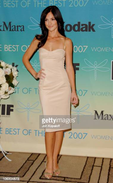 Minka Kelly during 2007 Women in Film Crystal Lucy Awards Arrivals at The Beverly Hilton Hotel in Beverly Hills California United States
