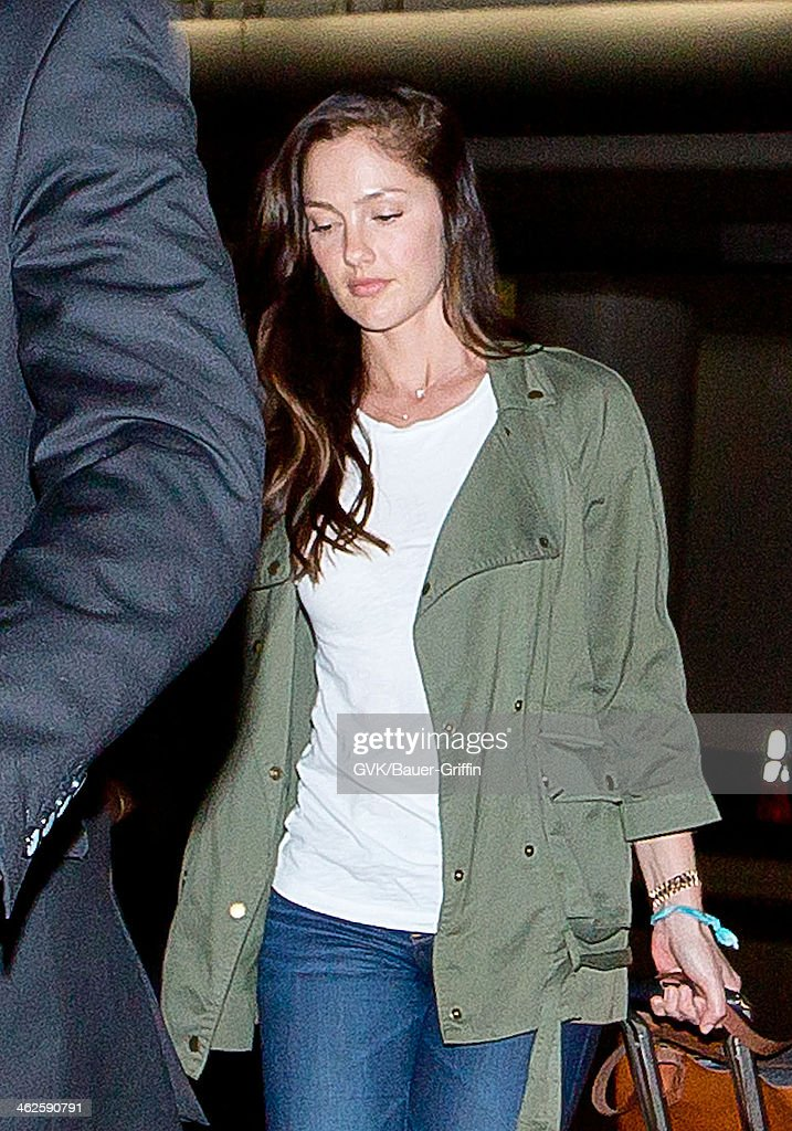 Minka Kelly is seen at LAX airport on January 13, 2014 in Los Angeles, California.