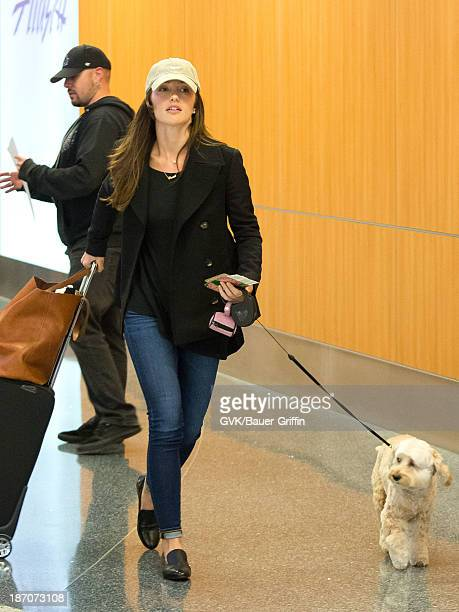 Minka Kelly is seen departing at LAX airport on November 05 2013 in Los Angeles California