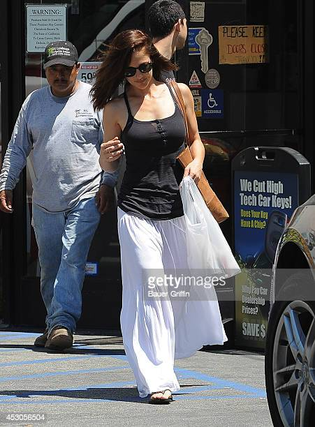 Minka Kelly is seen in Beverly Hills on August 01 2014 in Los Angeles California