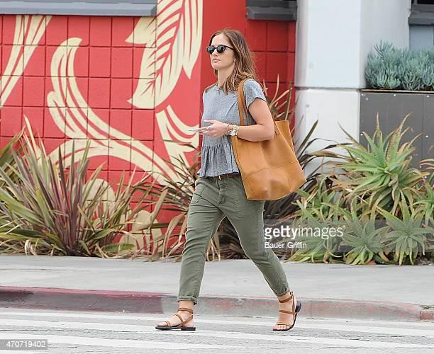 Minka Kelly is seen in Los Angeles on April 22 2015 in Los Angeles California
