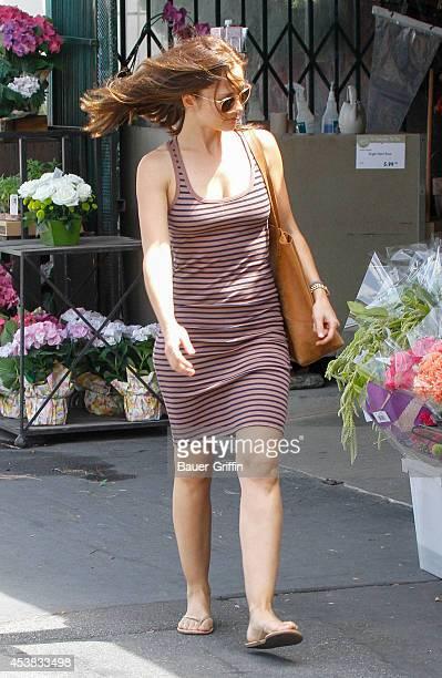 Minka Kelly is seen on August 19 2014 in Los Angeles California