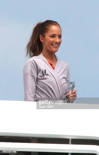 Minka Kelly is seen on the movie set of The new TV series of 'Charlie's Angels' on March 15 2011 in Miami Florida