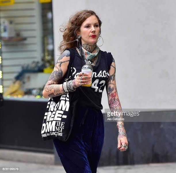 Minka Sicklinger is seen in the East Village on August 9 2017 in New York City