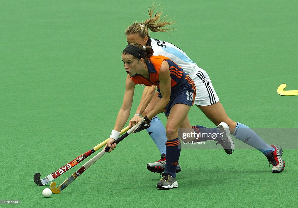 Minke Smabers Of The Netherlands In Action During 2003 Womens BDO Hockey Champions Trophy Match
