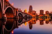 Minneapolis cityscape at twilight