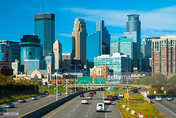 Minneapolis downtown and highway