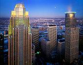 Minneapolis, Minnesota aerial at dusk