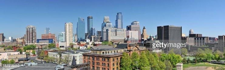 Minneapolis Minnesota Downtown Panorama View