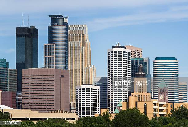 Minneapolis, Minnesota Urban Skyline, Downtown District Skyscrapers of Scenic Cityscape