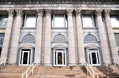 Minneapolis, Minnesota, USA: United States Federal Office Building, originally a post office - neo-classical facade with corinthian order columns -  photo by M.Torres