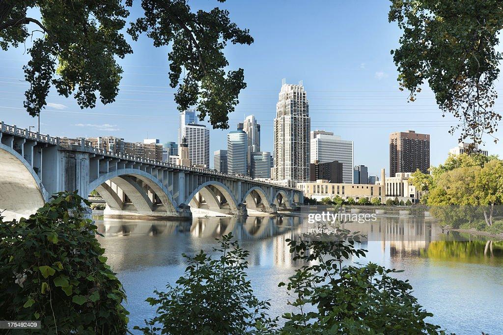 'Minneapolis, Minnesota with 3rd Ave. bridge.'