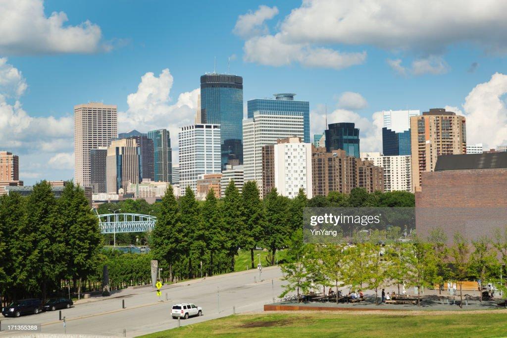 Minneapolis Skyline with Walker Art Center in Foreground