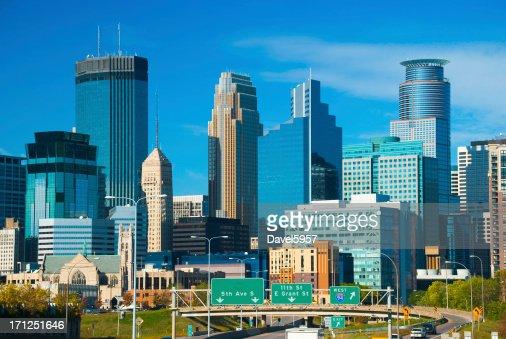 Minneapolis skyscrapers and skyline