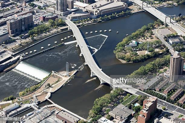 Mineápolis Third Avenue Bridge e de St Anthony