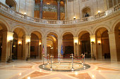 Subject: The interior rotunda of the capitol building of the State of Minnesota, USA