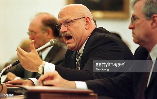 Minnesota Governor Jesse Ventura middle testifies before the House Ways and Means Committee on Capitol Hill in Washington DC March 30 2000