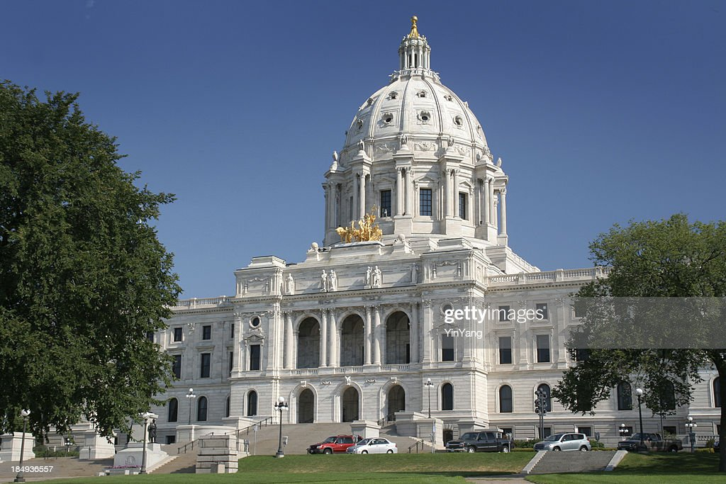 Minnesota state capitol building exterior st paul famous for Cost of building a house in mn