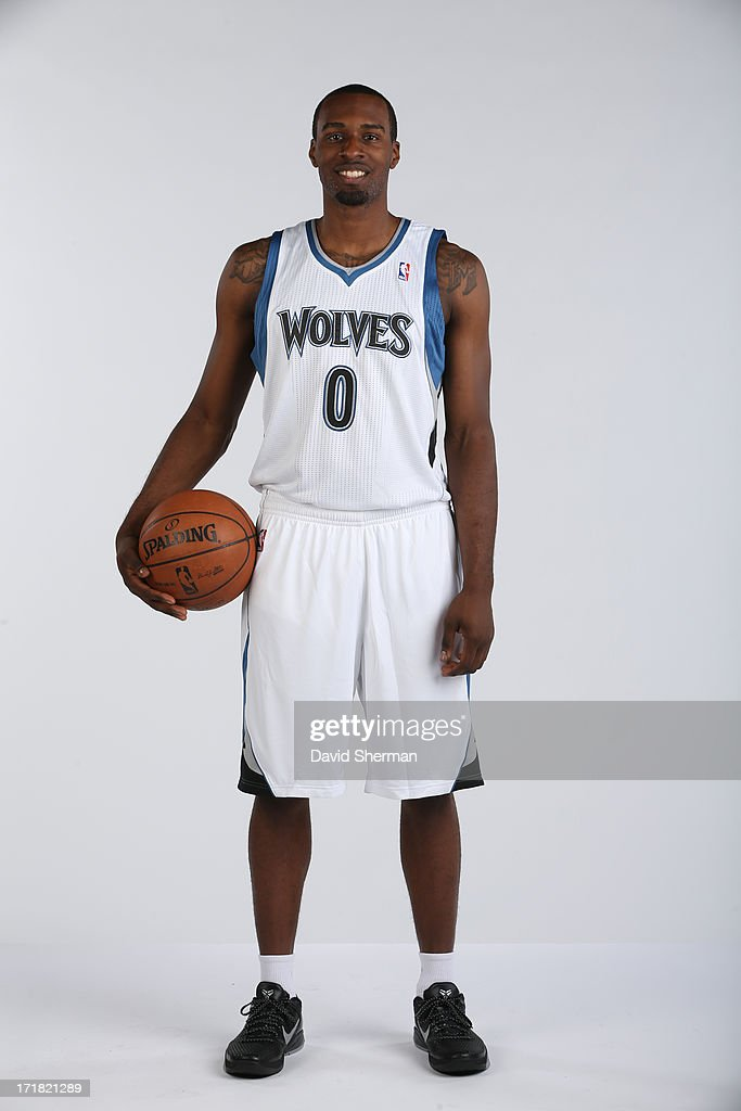Minnesota Timberwolves 2013 NBA Draft Pick Shabazz Muhammad (14th) poses for portraits on June 28, 2013 at Target Center in Minneapolis, Minnesota.