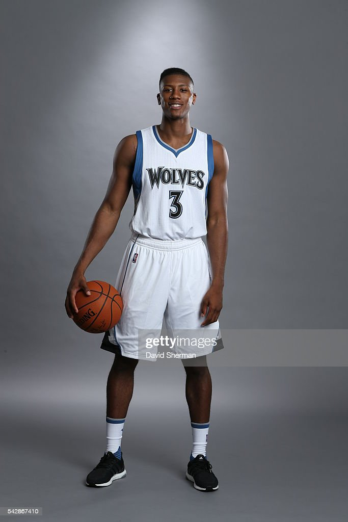 Minnesota Timberwolves 2016 NBA Draft Pick <a gi-track='captionPersonalityLinkClicked' href=/galleries/search?phrase=Kris+Dunn&family=editorial&specificpeople=7887137 ng-click='$event.stopPropagation()'>Kris Dunn</a> poses for portraits on June 24, 2016 at the Minnesota Timberwolves and Lynx Courts at Mayo Clinic Square in Minneapolis, Minnesota.