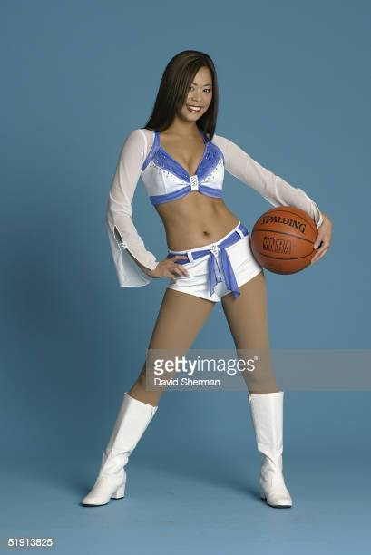 Minnesota Timberwolves cheerleader poses for a portrait during a costume gallery photo shoot on December 1 2004 in Minneapolis Minnesota NOTE TO USER...